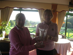 Team Captain Receiving the Fingal Seniors Crystal Trophy